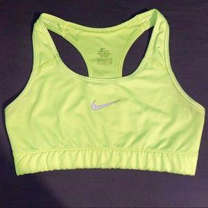 Like green Nike sports bra